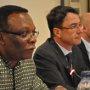 African Union Commission Chief of Staff John Shinkayie and EU AMbassador Koen Vervaeke during a meeting