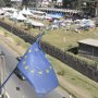 A view of the African Union compound from the EU delegation building in Addis Ababa