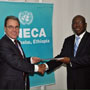 United Nations Executive Secretary of the Economic Commission for Africa, M. Abdoulie JANNEH, receives credential of M. Gary Quince, new Special Representative of the European Union to the African Union