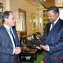 African Union Chairperson, M. Jean Ping, receives credential of M. Gary QUINCE, new Special Representative of the European Union to the African Union