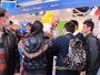 The booth displayed by the Office of the European Union to Hong Kong and Macao at the Hong Kong Education and Careers Expo 2012 is swamped with students inquiring about studying in Europe. The Expo ran from 9th to 12th February 2012