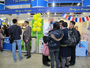 Head of Political Section of the Office of the European Union to Hong Kong and Macao, Mr Asad Beg answers questions from visitors about studying in Europe at the Hong Kong Education and Careers Expo 2012. The Expo ran from 9th to 12th February 2012