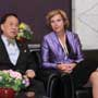 Connie Hedegaard, European Commissioner for Climate Action discusses with Donald Tsang, Chief Executive for Hong Kong SAR on issues related to climate change and consumerism