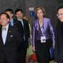 Connie Hedegaard, European Commissioner for Climate Action is accompanied by Donald Tsang, Chief Executive for Hong Kong SAR (Left 1) and Anthony Cheung, Hong Kong Consumer Council Chairman at the Consumers International World Congress