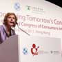 Connie Hedegaard, European Commissioner for Climate Action gives a speech at the Consumers International World Congress