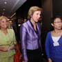 "Connie Hedegaard, European Commissioner for Climate Action (Middle) is accompanied by Maria Castillo, Head of Office of the European Union to Hong Kong and Macau (Left 1) and Christine Loh, CEO of Civic Exchange at a forum, ""Climate action in Europe and Hong Kong – a continuing conversation"""