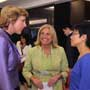 Connie Hedegaard, European Commissioner for Climate Action (Left 1) talks with Maria Castillo, Head of Office of the European Union to Hong Kong and Macau (Middle) and Christine Loh, CEO of Civic Exchange