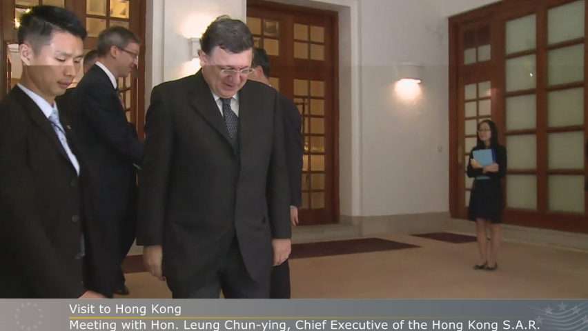 Visit of José Manuel Barroso to Hong Kong