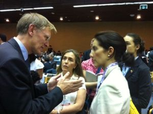EU Commissioner for Environment, Janez Potocnik, and Colombian Vice-Minister for Environment and Sustainable Development, Adriana Soto-Carreno