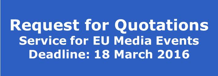 Request for Quotations - Media Events