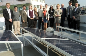 EU Environmental counsellors visit the CIHAC zero emissions building in Mexico City