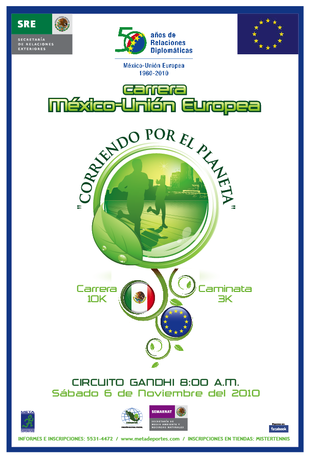 "10K run & 3K walk: ""Mexico-European Union running for the planet"""