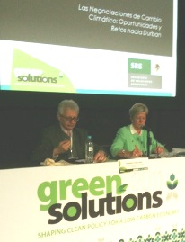 "Marie-Anne Conisnx, Ambassador of the EU to Mexico participated in the Forum ""Green Solutions 2011"""