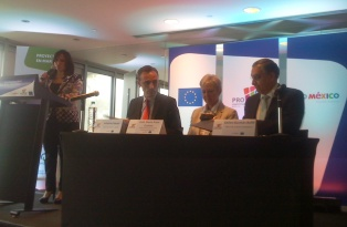 EU Ambassador Marie-Anne Coninsx chaired the signature ceremony of two new cooperation projects supporting Mexican SME
