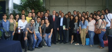 The EU Ambassador in Mexico offers conference at the University of Guadalajara
