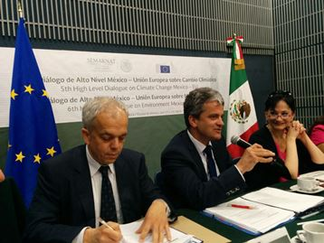 The European Union and Mexico celebrate the V High Level Dialogue on Climate Change