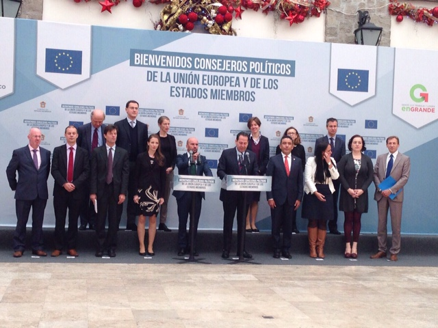 POLITICAL COUNCILLORS OF THE EU AND ITS MEMBER STATES ON OFFICIAL VISIT TO THE STATE OF MEXICO