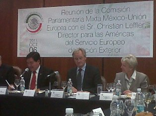 Mr. Christian Leffler, Managing Director for the Americas of the European External Action Service attended a lunch hosted by Senator José Guadarrama Márquez