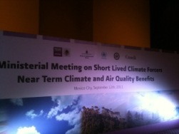 Ministerial meeting on short lived climate forcers