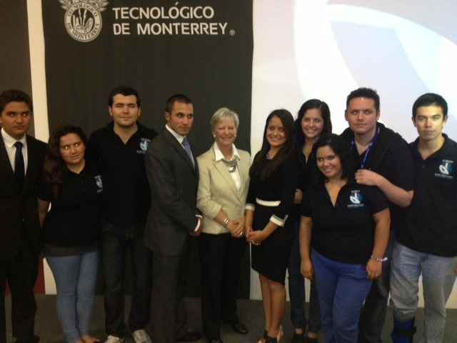 Ambassador Marie Anne Coninsx participated at the United Nations Simulation Model organised by the Tecnológico de Monterrey, Campus Puebla.