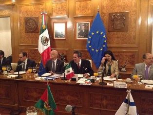 EU Ambassadors meet with the Governor of Aguascalientes Carlos Lozano de la Torre, in the context of a working visit.