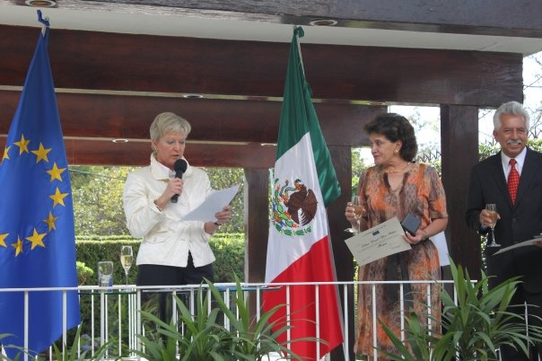 On the ocassion of the 20th anniversary since the official opening of the European Comission's Delegation in Mexico, the Head of Delegation, Ambassador, Marie-Anne Coninsx  offered a press con