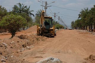 Namacurra - Rio Ligonha rehabilitation work in the city of Mocuba