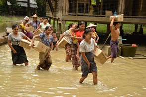 European Union supports relief operations for communities affected by monsoon floods in Myanmar