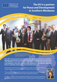The EU is a partner for Peace and Development in Southern Mindanao