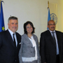 EU Commissioner for Fisheries, Maria Damanaki (R) meeting Mr. Abdellah SROUR, GFCM Executive Secretary, and Professor Stefano CATAUDELLA, Chair of the GFCM