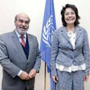 EU Commissioner for Fisheries, Maria Damanaki (R) meeting FAO Director-General José Graziano da Silva, FAO headquarters