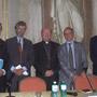Ambassador Gazzo, Ambassador de Laboulaye, Mgr Ravasi, Axel Khan, Jean-Louis Pouthier, Director of the Cultural Centre San Luigi dei Francesi