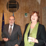 Ambassador Ritto with Ms Mosca, Director, DG EuropeAid Cooperation and Development