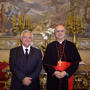 Commissioner John Dalli and Cardinal Bertone, Vatican Secretary of State