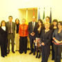 Ambassador Gazzo and the EU Delegation's staff