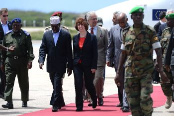 Catherine Ashton travelled to Somalia