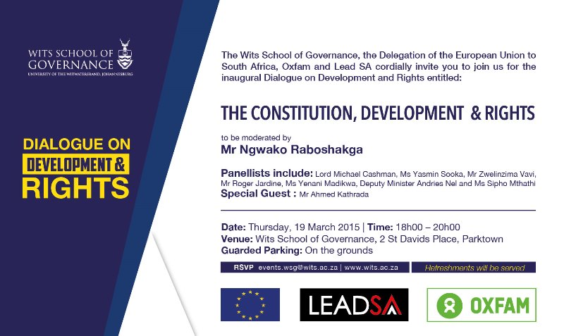 Thursday 19 March, Dialogue on Developments & Rights