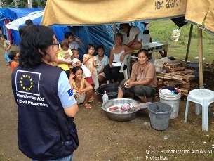 EU aid for immediate relief and long-term rehabilitation to the Philippines stands at €20 million