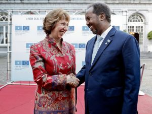 HR Catherine Ashton and President Hassan Sheikh Mohamud