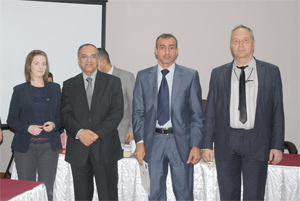 (from left) Dr. K. Murphy, Human Rights and Gender expert; Judge H. Aziz, co-trainer on EUJUST LEX-Iraq Domestic Violence courses; Q. Abdullah, legal adviser to the Ministry of Womens' Affairs; and Prof. A. Girginov, Head of the EUJUST LEX Judiciary Team