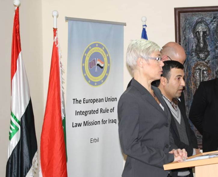 Head of Erbil Field Office, Lena Larsson, at the closing ceremony