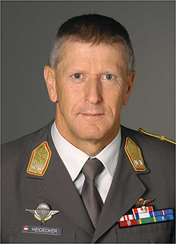 Major General Dieter Heidecker, Head of Mission