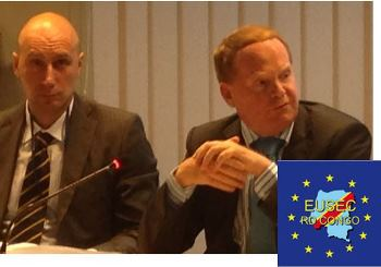 Mr. Kurt Cornelis (DEVCO) and Mr. Mario Marmo (SSR expert in the ESDC Secretariat)