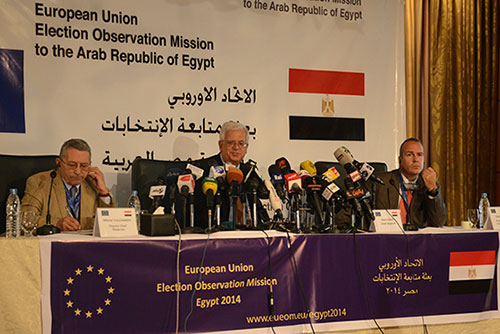 Chief Observer Mario David holds his first press conference in Cairo