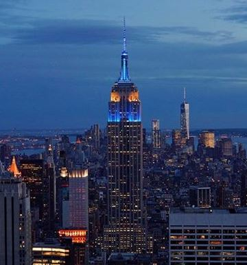 Empire State Building in EU colors on Europe Day – 9 May 2015