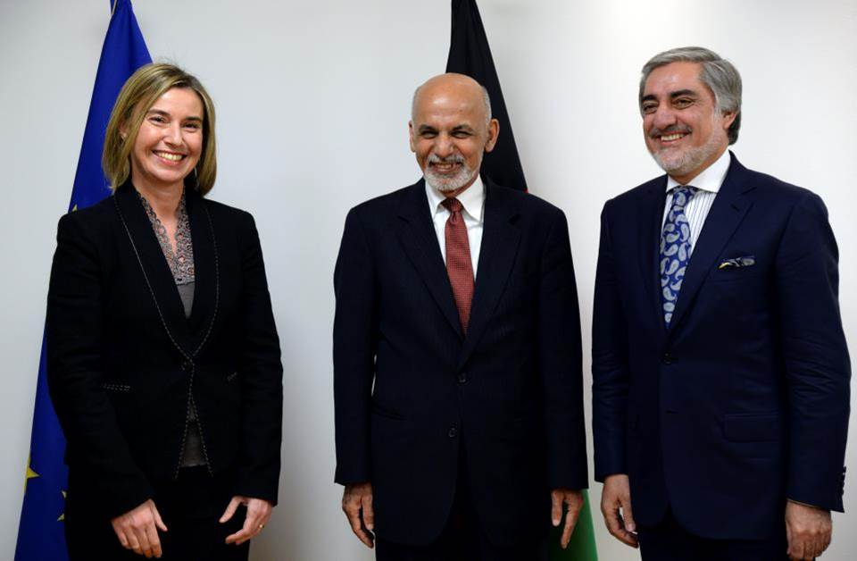 HR/VP Mogherini with President Ghani and CEO Abdullah