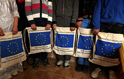The EU assists refugees who have fled the violence inside Syria