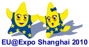Ou Ou and Meng Meng, the EU mascots at Shanghai Expo 2010