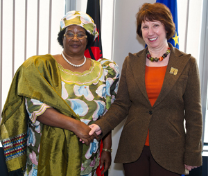 Catherine Ashton meets Joyce Hilda Banda, President of Malawi 16 October 2012