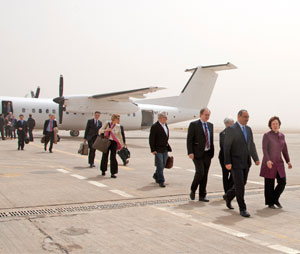 Representatives of the international community, lead by Catherine Ashton arrive for nuclear talks with Iran in Baghdad 23 May 2012